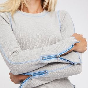 Free People | Zip It Cuff Thermal in Heather Gray